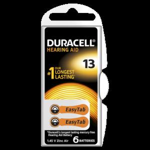 Slušni aparat baterije Duracel-13