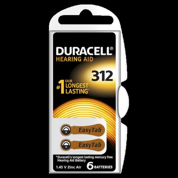 Slušni aparat baterije Duracel-312